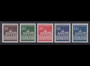 Bund 506-510 Brandenburger Tor 10 Pf, 20 Pf, 30 Pf, 50 Pf 100 Pf postfrisch