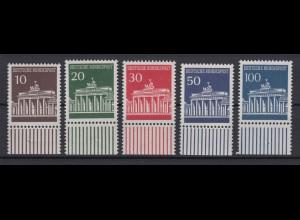 Bund 506-510 mit Unterrand Brandenburger Tor kompl. Satz postfrisch