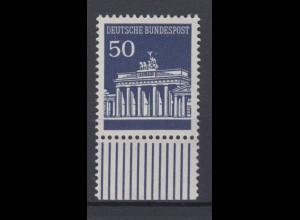 Bund 509 mit Unterrand Brandenburger Tor 50 Pf postfrisch