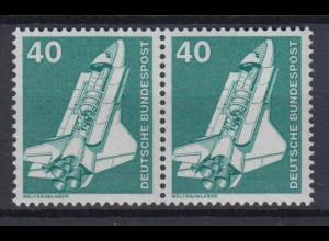 Bund 850 waagerechtes Paar alte Fluoreszenz Industrie+Technik 40 Pf postfrisch