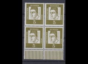 Bund 347x 4er Block Bedeutende Deutsche 5 Pf postfrisch