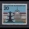 Bund 420 II mit Plattenfehler Wiesbaden Kurhaus Hessen 20 Pf postfrisch