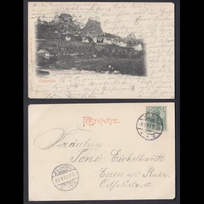 Ansichtskarte Kallenfels Stadtteil von Kirn Landkreis Bad Kreuznach 1903