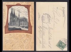 Ansichtskarte Köln Dom Süd gestempelt 1903