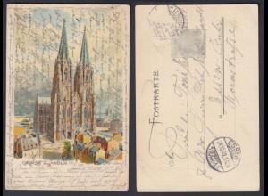 Ansichtskarte Gruss aus Köln Dom gestempelt 1903
