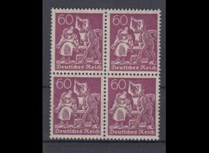 Deutsches Reich 165 4er Block Schmied 60 Pf postfrisch