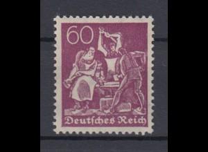 Deutsches Reich 165 Schmied 60 Pf postfrisch