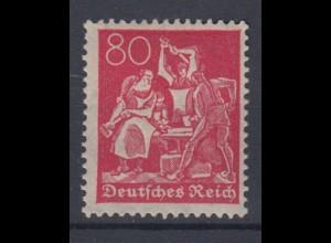 Deutsches Reich 166 Schmied 80 Pf postfrisch