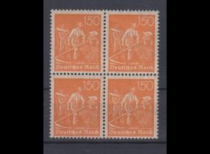 Deutsches Reich 169 4er Block Schnitter 150 Pf postfrisch
