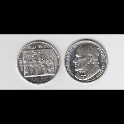 Medaille Papst Johannes Paul II. versilbert (M1)
