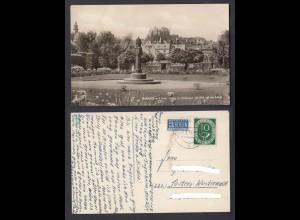 Ansichtskarte Marburg an der Lahn Partie im Schloßpark mit Blick auf das Schloß