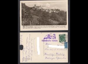 Ansichtskarte Schloß Rötteln bei Lörrach mit Stempel Schloßruine Rötteln 1951
