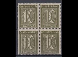Deutsches Reich 159 4er Block Ziffern im Rechteck 10 Pf postfrisch