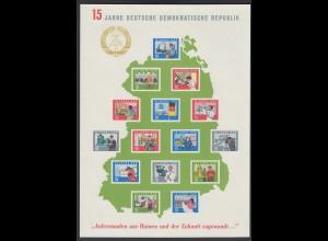 DDR Block 19 15 Jahre Deutsche Demokratische Republik (*)