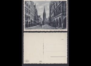 Ansichtskarte Münster i. Westfalen Prinzipalmarkt mit Lambertikirche n. gelaufen