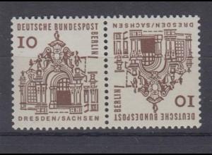 Berlin 242b Zusammendrucke KZ 4a Bauwerke 10 Pf postfrisch