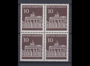 Bund 506 4er Block Brandenburger Tor 10 Pf postfrisch
