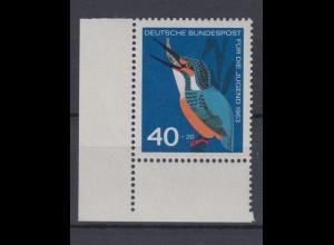 Bund 404 Eckrand links unten Einheimische Vögel 40+ 20 Pf postfrsich