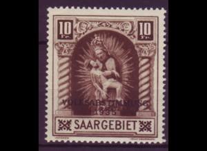 Saargebiet 194 IV postfrisch mit Plattenfehler
