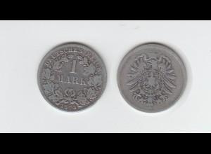 Silbermünze Kaiserreich 1 Mark 1875 keine Prägeanstalt erkennbar Jäger Nr. 9 /9