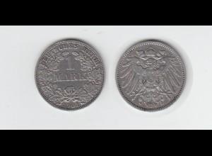 Silbermünze Kaiserreich 1 Mark 1901 A Jäger Nr. 17 /21
