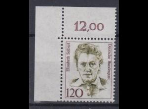 Bund 1338 Eckrand links oben Frauen der deutschen Geschichte (III) 120 Pf **