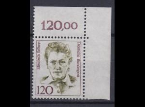 Bund 1338 Eckrand rechts oben Frauen der deutschen Geschichte (III) 120 Pf **