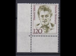 Bund 1338 Eckrand links unten Frauen der deutschen Geschichte (III) 120 Pf **
