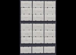Bund ATM 1 mit Nummer 21 Werte postfrisch /1