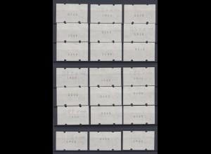 Bund ATM 1 mit Nummer 21 Werte postfrisch /2