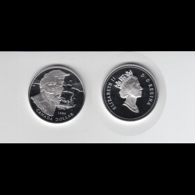 Silbermünze Kanada 1 Dollar 1995 Hudson-Bay polierte Platte