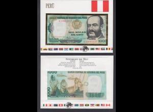 Banknotenbrief Peru 1000 Soles UNC /13