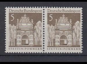Bund 489 waagerechtes Paar Deutsche Bauwerke (II) 5 Pf postfrisch