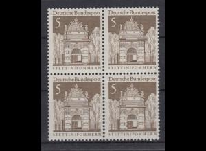 Bund 489 4er Block Deutsche Bauwerke (II) 5 Pf postfrisch