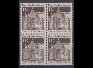 Bund 490 4er Block Deutsche Bauwerke (II) 10 Pf postfrisch