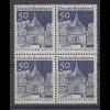 Bund 495 4er Block Deutsche Bauwerke (II) 50 Pf postfrisch