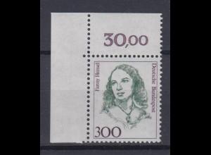 Bund 1433 Eckrand links oben Frauen (X) 300 Pf postfrisch