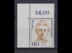 Bund 1432 Eckrand links oben Frauen (X) 140 Pf postfrisch