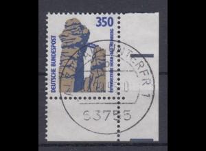 Bund 1407 Eckrand rechts unten SWK (VI) 350 Pf gestempelt /1