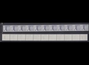 Bund 913 II Letterset RM 11er Streifen Burgen+Schlösser (I)10 Pf postfrisch