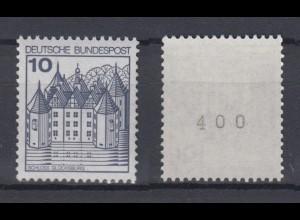 Bund 913 II Letterset RM mit gerader Nummer Burgen+Schlösser (I) 10 Pf **