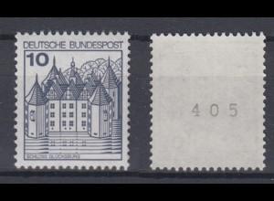 Bund 913 II Letterset RM mit ungerader Nummer Burgen+Schlösser (I) 10 Pf **