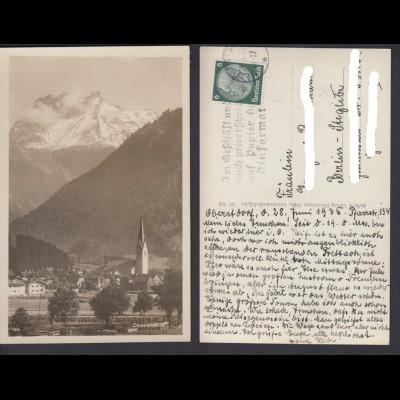 Ansichtskarte Oberstdorf mit Kratzer
