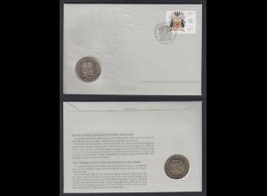 Numisbrief Portugal X. Aniversario da Autonomia Azoren 1986 mit 100 Escudos 1986