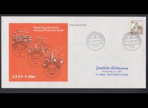 Ganzsache Berlin 30 Pf. Stempel 7.7.77 - 7 Uhr Postleitzahl 77 Singen