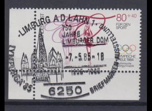 Bund 1207 Eckrand links unten Sporthilfe 1984 80+ 40 Pf Sonderstempel Limburg