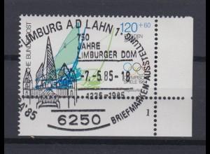 Bund 1208 Eckrand rechts unten Sporthilfe 1984 120+ 60 Pf Sonderstempel Limburg