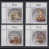 Bund 1383-1386 Eckrand links oben Gold + Silberschmiedekunst ESST Frankfurt