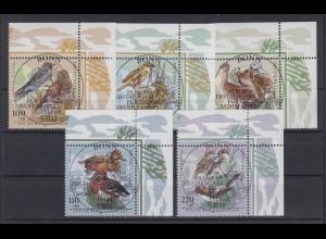 Bund 2015-2019 Eckrand rechts oben Bedrohte Vogelarten kompl. Satz ESST Bonn