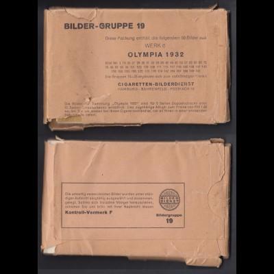 Olympia 1932 50 Zigarettenbilder Sammelbilder Gruppe 19 in original Verpackung